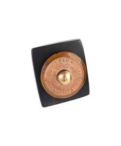 Ashley Pittman | Dark Horn Coin Stud Ring Womens Size 6 Gold