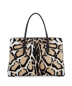 Nancy Gonzalez | Printed Calf Hair Crocodile Tote Bag