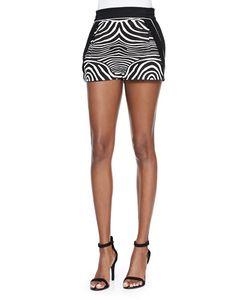 Ohne Titel | Zebra-Print/Solid Resort Shorts Womens Size 6 Black/White