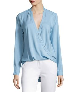 Halston Heritage | High-Low Wrap Blouse