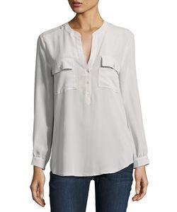 Joie   Pauline Long-Sleeve Silk Blouse