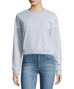 CHEAP MONDAY   Mirage Mesh-Overlay Crop Sweater