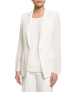 Lafayette 148 New York | Lorelle One-Button Cotton/Silk Jacket