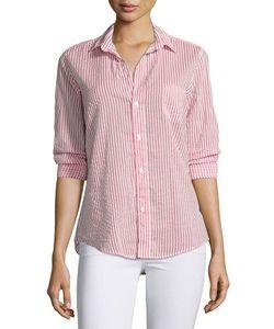 Frank & Eileen   Barry Long-Sleeve Voile Shirt Stripe