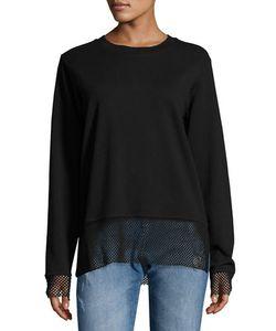CHEAP MONDAY   Net-Trim Pullover Sweater