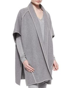 Donna Karan | Double-Faced Cashmere Belted Coat