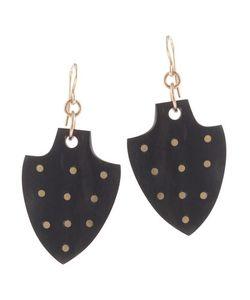 Ashley Pittman | Bronze Dot Dark Horn Dangle Drop Earrings Womens Gold