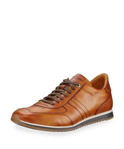 Magnanni for Neiman Marcus | Leather Lace-Up Platform Sneaker