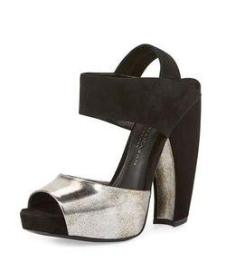 Donna Karan | Suede Leather Slingback Sandal /