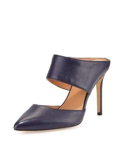 Halston Heritage | Isabella Leather Pointed-Toe Mule