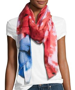 Michael Stars   Abstract Tie Dye Flat Scarf