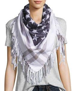 Michael Stars   American Flag-Jacquard Square Scarf