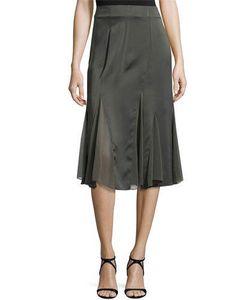 Donna Karan | Chiffon Godet Skirt