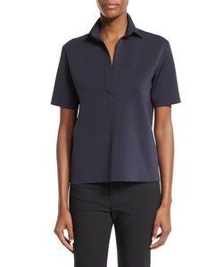 Helmut Lang | Short-Sleeve Scuba Polo Shirt