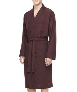 Neiman Marcus | Mens Plaid Cotton Robe