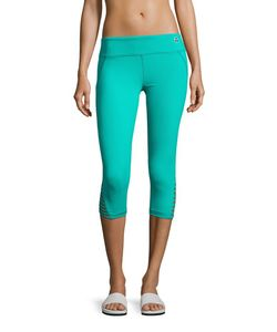 Trina Turk Recreation | Strapped-Cuff Solid Performance Leggings