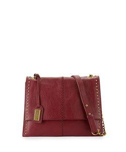 Badgley Mischka | Zoe Leather Studded Shoulder Bag