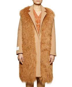 Stella McCartney | Long Sleeve Wool-Blend Coat