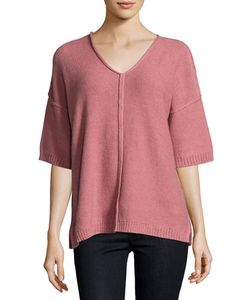 Lafayette 148 New York   Drop-Shoulder Relaxed Sweater