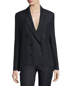 Costume National | Peaked-Lapel Double-Breasted Jacket