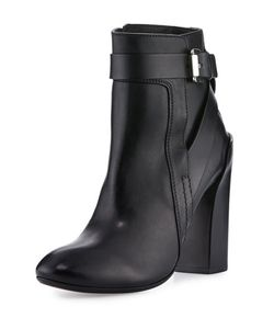 Costume National | Strappy Leather Ankle Boot