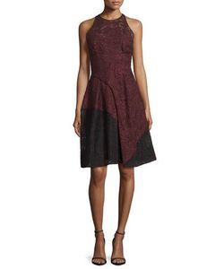 J. Mendel   Colorblock Lace Halter Dress