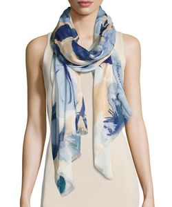 Badgley Mischka | Hidcote Garden-Print Silk-Blend Scarf