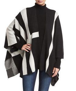 Neiman Marcus | Open-Front Multi-Striped Cardigan Lack