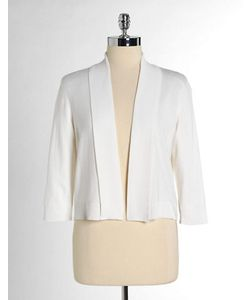 Calvin Klein | Three-Quarter Sleeve Shawl Sweater