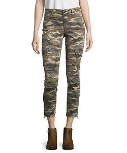 True Religion | Cropped Camouflage Jeans