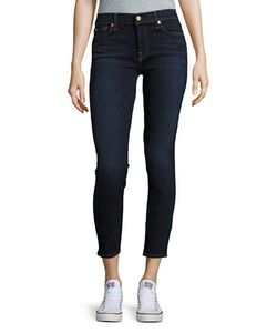 7 For All Mankind | Dark Wash Ankle Super Skinny Jeans