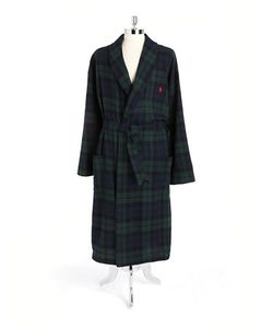 Polo Ralph Lauren | Belted Plaid Cotton Robe
