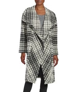 Dkny Pure | Plaid Mohair Wrap Coat