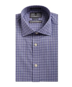 Black Brown | Non-Iron Slim-Fit Plaid Dress Shirt