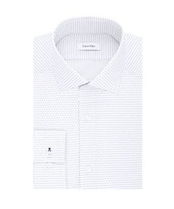 Calvin Klein | Micro Printed Cotton Dress Shirt