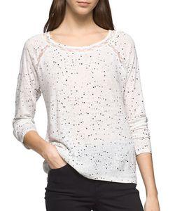 Calvin Klein Jeans | Speckled Linen-Blend Top