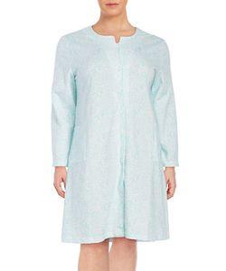 Miss Elaine | Plus Long Sleeved Printed Sleep Robe