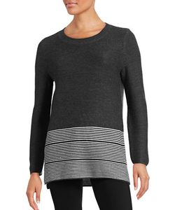 Lord & Taylor | Striped Hem Knit Sweater