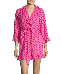 Betsey Johnson | Dotted Ruffle Robe