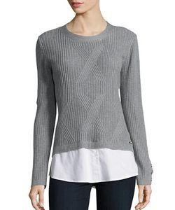 KARL LAGERFELD PARIS   Laye Ribbed-Knit Sweater