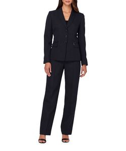 Tahari Arthur S. Levine | Pinstripe Jacket And Pants Suit