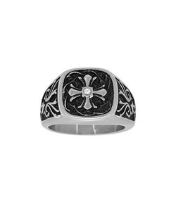 Lord & Taylor | Cubic Zirconia And Stainless Steel Cross Ring