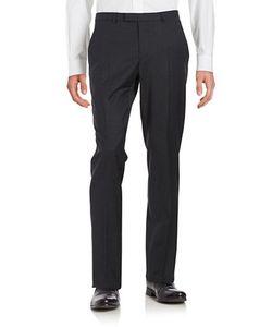 Hugo | Flat Front Checked Dress Pants