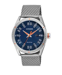 CITIZEN | Round Stationary Bezel Analog Watch