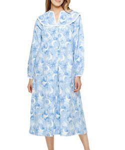 Lanz   Printed Split-V Ballet Nightgown