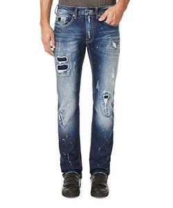 BUFFALO David Bitton | Distressed And Whiske Straight-Leg Jeans