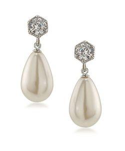 Lauren Ralph Lauren | Stone-Accented And Faux Pearl Drop Earrings