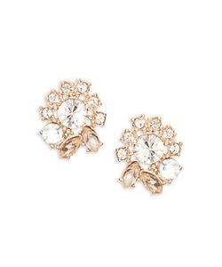Marchesa | Crystal Cluster Button Stud Earrings