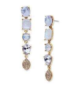 Jenny Packham | Tone Linear Drop Earrings