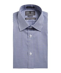 Black Brown | Non-Iron Slim-Fit Embroide Check Dress Shirt